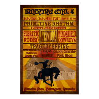 4th Annual Burning Girl 2011 Poster