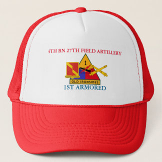 4TH BATTALION 27TH FIELD ARTILLERY 1ST ARMORED HAT
