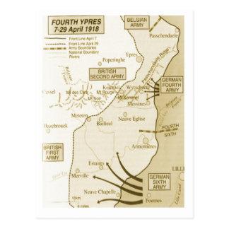 4th Battle of Ypres, 1918 Postcard