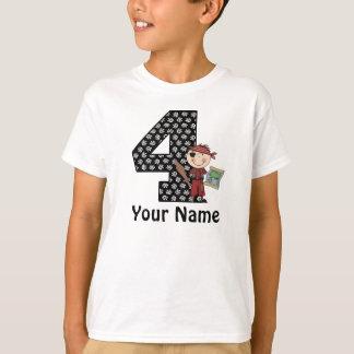 4th Birthday Boys Pirate Personalized Shirt