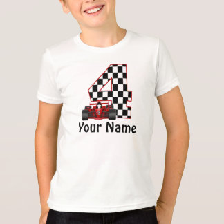 4th Birthday Boys Race Car T-Shirt