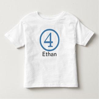 4th Birthday Customizable T-Shirt Boy