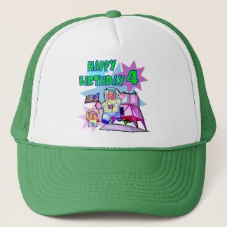 4th Birthday Space Birthday Trucker Hat