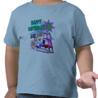 4th Birthday Space Birthday Tshirts