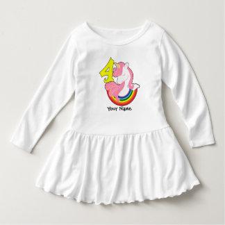 4th Birthday Unicorn Rainbow Dress