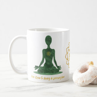 4th Chakra Heart Anahata Green Affirmation Coffee Mug