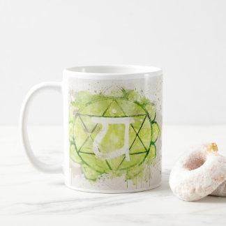 4th Chakra Heart Anahata Green Coffee Mug