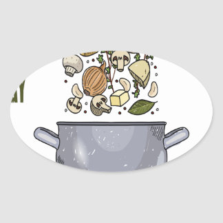 4th February - Homemade Soup Day Oval Sticker