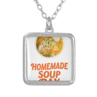4th February - Homemade Soup Day Silver Plated Necklace