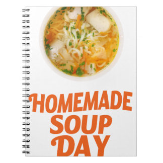 4th February - Homemade Soup Day Spiral Notebook