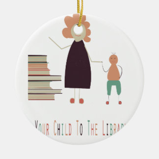 4th February - Take Your Child To The Library Day Ceramic Ornament