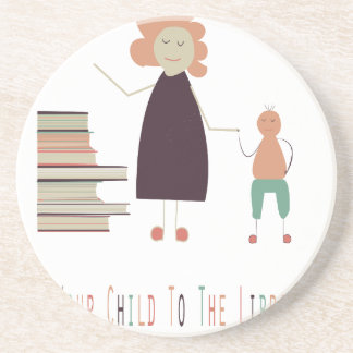 4th February - Take Your Child To The Library Day Coaster