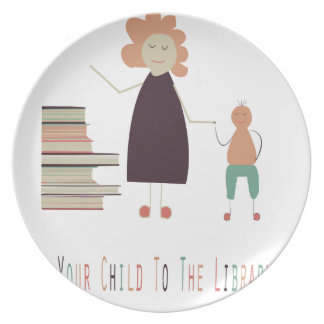 4th February - Take Your Child To The Library Day Plate