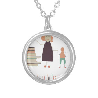4th February - Take Your Child To The Library Day Silver Plated Necklace
