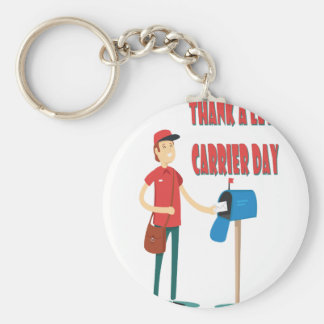 4th February - Thank A Letter Carrier Day Keychain