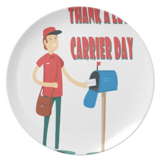 4th February - Thank A Letter Carrier Day Plate