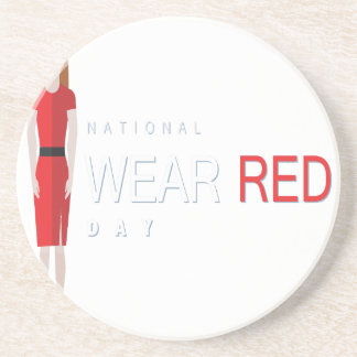 4th February - Wear Red Day - Appreciation Day Coaster