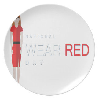 4th February - Wear Red Day - Appreciation Day Plates