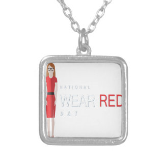 4th February - Wear Red Day - Appreciation Day Silver Plated Necklace