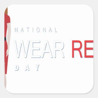 4th February - Wear Red Day - Appreciation Day Square Sticker