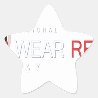 4th February - Wear Red Day - Appreciation Day Star Sticker