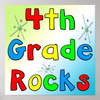 4th Grade Rocks Poster
