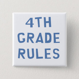 4th Grade Rules 2 Inch Square Button