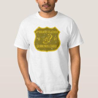 4th Grade Teacher Drinking League T-Shirt