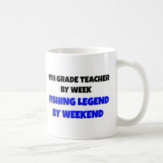 4th Grade Teacher Fishing Legend Coffee Mug