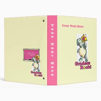 """4th Graders Rock"" Turtle Design Vinyl Binder"