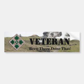 4th infantry division veterans bumper sticker