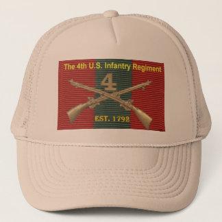 4th Infantry Regiment History DUI Trucker Hat