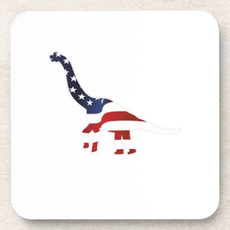 4th July Dinosaur American Flag Funny Gift Coaster