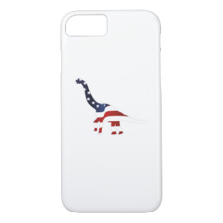 4th July Dinosaur American Flag Funny Gift iPhone 8/7 Case
