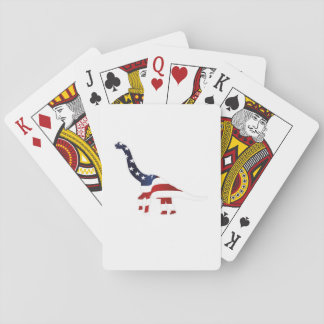 4th July Dinosaur American Flag Funny Gift Playing Cards
