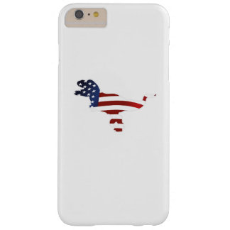 4th July Dinosaur T-Rex American Flag Funny Gift Barely There iPhone 6 Plus Case