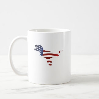 4th July Dinosaur T-Rex American Flag Funny Gift Coffee Mug