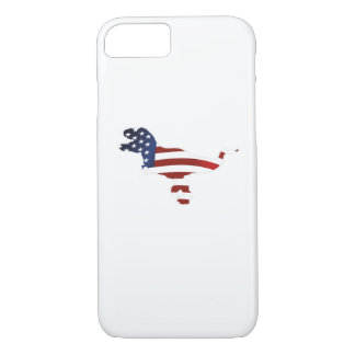 4th July Dinosaur T-Rex American Flag Funny Gift iPhone 8/7 Case