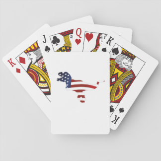 4th July Dinosaur T-Rex American Flag Funny Gift Playing Cards