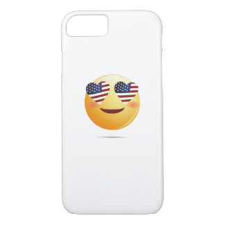 4th July Emoji  National Independence Funny Gift iPhone 8/7 Case
