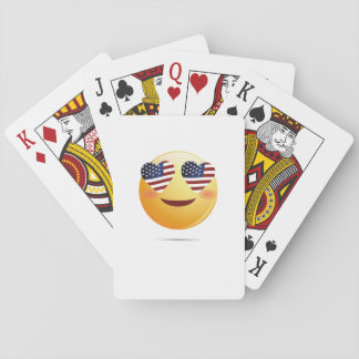 4th July Emoji  National Independence Funny Gift Playing Cards