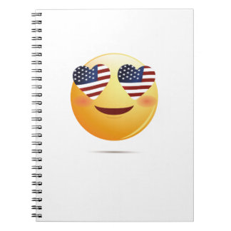 4th July Emoji  National Independence Funny Gift Spiral Notebook