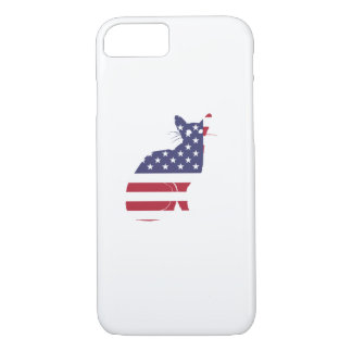 4th July Fourth of July  Cat Independence Day iPhone 8/7 Case