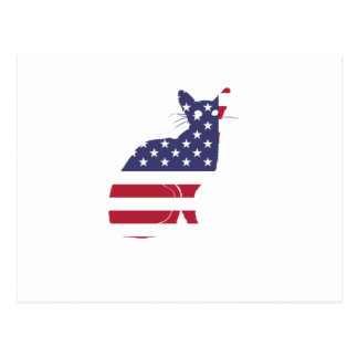 4th July Fourth of July  Cat Independence Day Postcard