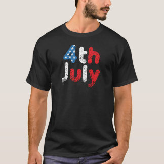 4th July Grunge Effect T-Shirt