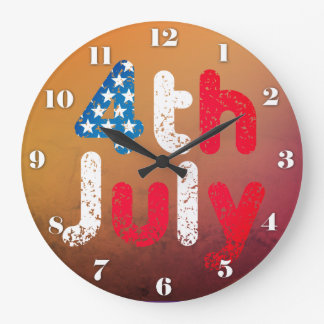 4th July Grunge Effect Wallclocks