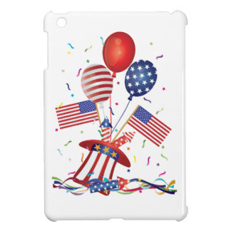 4th July Hat Balloons American Flag Firecrackers iPad Mini Cover