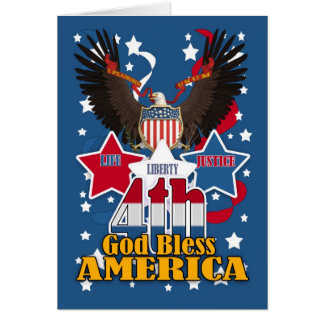 4th July Independence Day Card