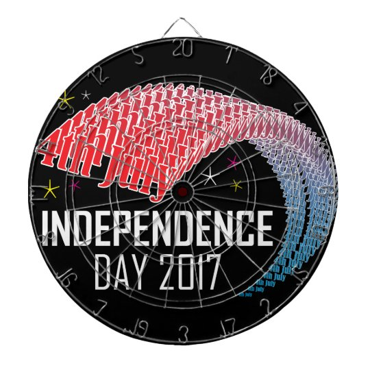4th July & Independence Day USA Dartboard