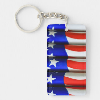 4th July Single-Sided Rectangular Acrylic Keychain